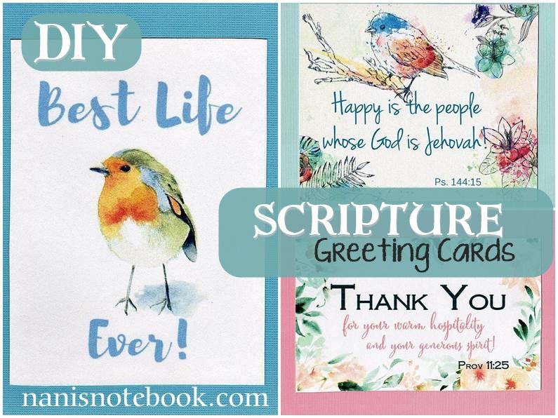 DIY Scripture Greeting Cards