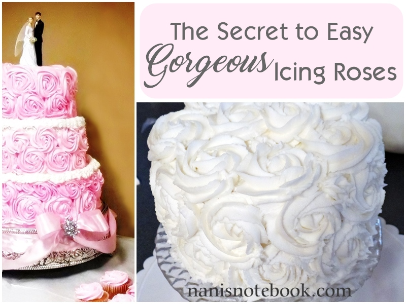 The Secret to Easy Gorgeous Icing Roses