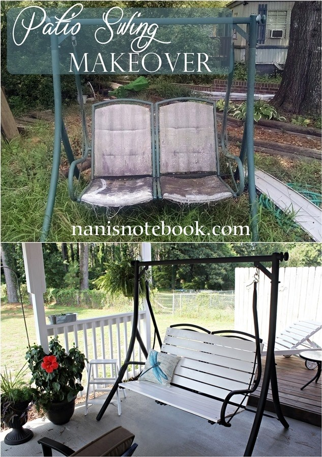 Patio Swing Replacement Seat: Patio Swing Makeover